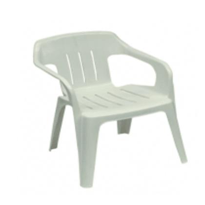 PVC STOEL MET ARMLEUNING