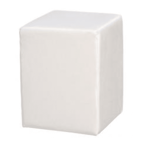 Zitpoef wit 40 x 40 cm